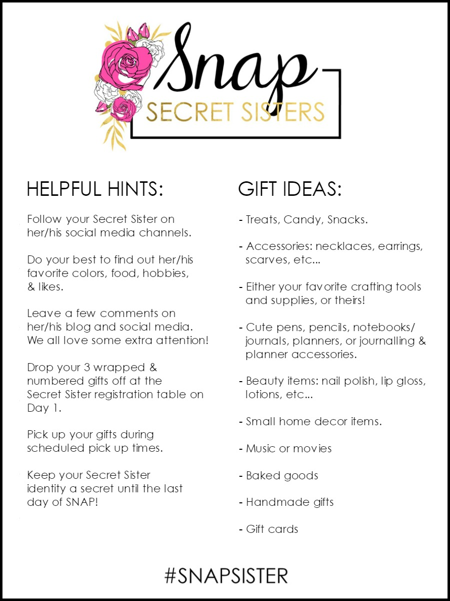 Secret Sister Helpful Hints & Gift Ideas