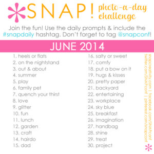 Instagram photo-a-day challenge for June #snapdaily
