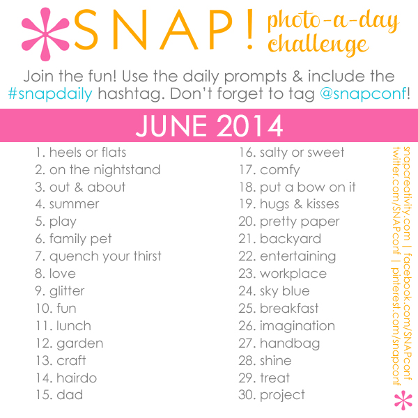 SNAPdaily photo-a-day challenge for June 2014