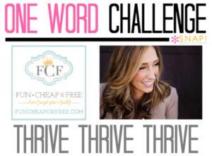 One Word Goal: Fun Cheap or Free