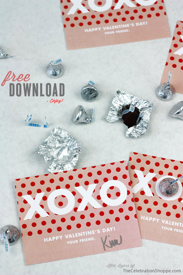 XOXO Valentine free printables