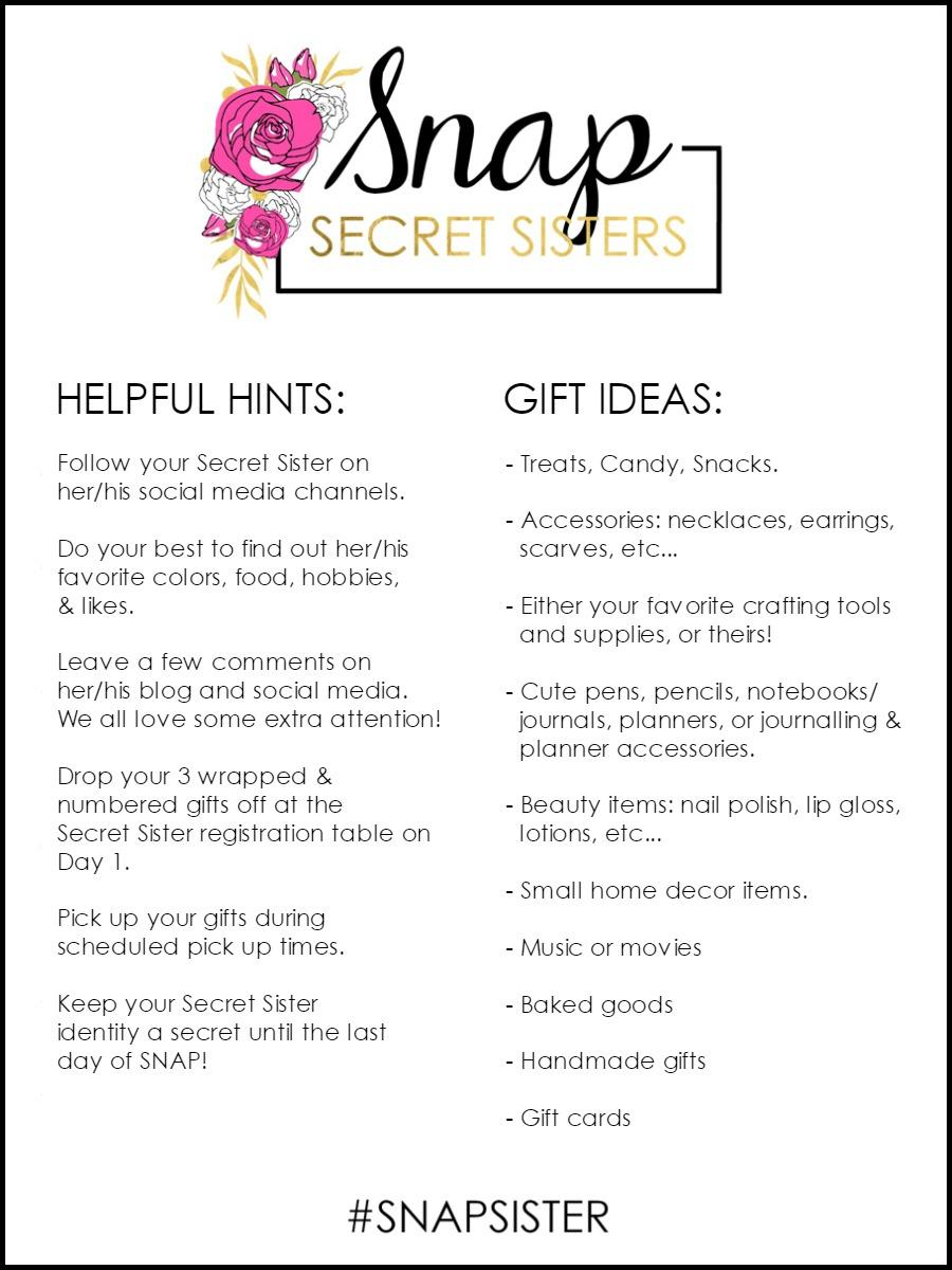 Secret Sister Helpful Hints & Gift Ideas