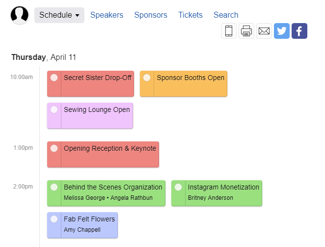 Snap 2019 Schedule is LIVE!